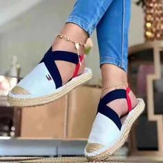 Vrouwen Suede Flat Heel Flats Lage top met Kriskras schoenen