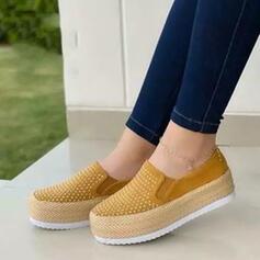 Vrouwen PU Flat Heel Flats met Strass schoenen