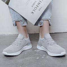Vrouwen Doek Mesh Flat Heel Flats Lage top Ronde neus Dans Sneakers met Vastrijgen schoenen
