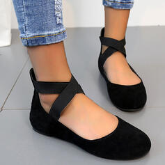 Vrouwen PVC Flat Heel Flats Instappers Aantrekken Loafers & Slip-Ons met Dier Afdrukken Elastiekje Kriskras schoenen