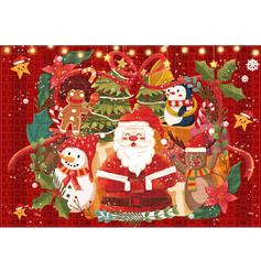 Kerstmis de kerstman Kaart Papier Kerst Ornements Puzzel
