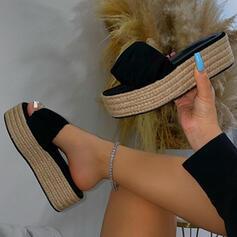 Vrouwen PU Flat Heel Sandalen Plateau Peep Toe Slippers met Hol-out Las kleur schoenen