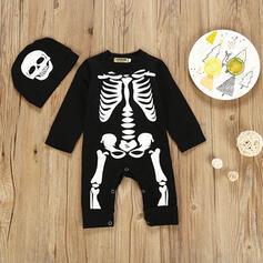 2 stuks baby Skelet Print Katoen Setformaat
