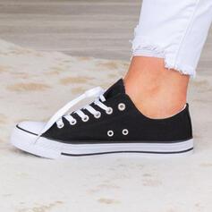 Vrouwen Doek Flat Heel Flats Lage top Ronde neus Espadrille met Vastrijgen schoenen