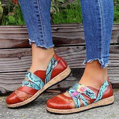 Vrouwen PU Flat Heel Flats Instappers met Las kleur schoenen