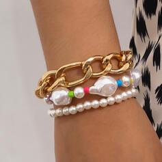 In de mode Sexy Boho Legering Imitatie Parel met Parels Vrouwen Dames Armbanden 3 STUKS