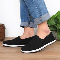 Vrouwen Zeildoek Flat Heel Flats Ronde neus Espadrille met Elastiekje schoenen