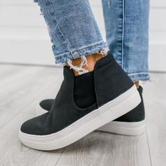 Vrouwen Zeildoek Flat Heel Flats met Elastiekje Lapwerk schoenen