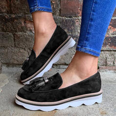 Vrouwen Suede Flat Heel Flats met Tassel schoenen