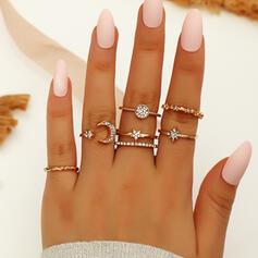 Mooi Gelaagd Legering Ringen 6 STUKS