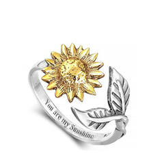 bloemen Legering met Bloem patroon Vrouwen Ringen