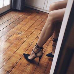 Vrouwen PU Stiletto Heel Sandalen Pumps Closed Toe Puntige teen met Vastrijgen Hol-out schoenen