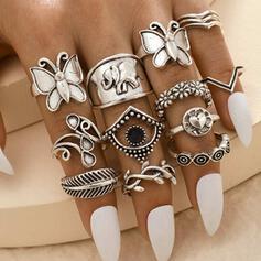 Exotisch Boho Legering Vrouwen Dames Ringen (Set van 14)