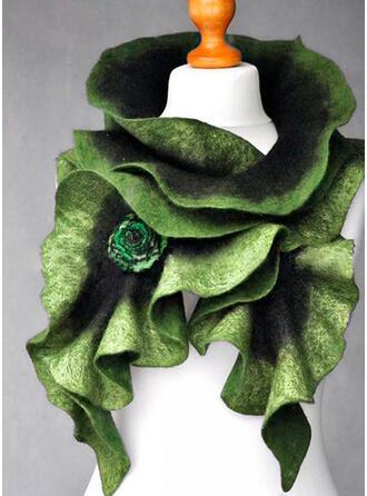 Effen kleur/Retro /Wijnoogst/Roos mode/Laat vormige Sjaal