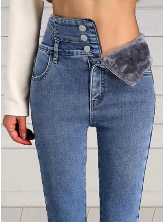 Shirred Elegant Sexy Spijkerbroek