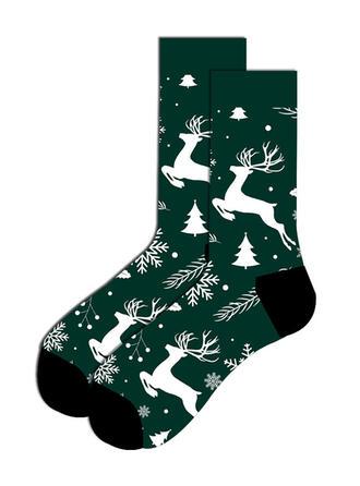 Print/Rendier van Kerstmis Comfortabel/Kerstmis/Crew sokken Sokken