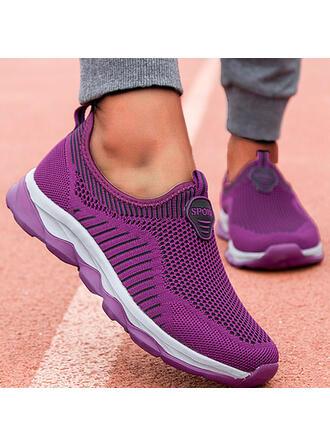Vrouwen Flying Weave Flat Heel Flats Ronde neus Dans Sneakers Aantrekken met Effen kleur schoenen