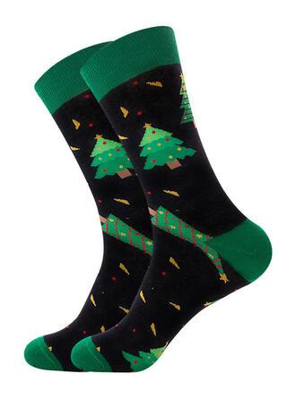 Print Ademend/Kerstmis/Crew sokken Sokken