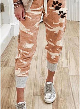 Dier Afdrukken Camouflage Trekkoord Casual sportieve Broeken Lounge broek