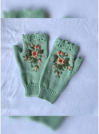 Bladeren/haak lichtgewicht/mode/Warme handschoenen