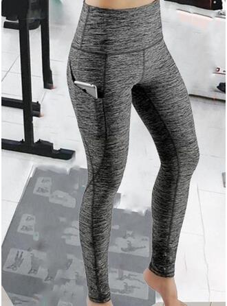 Solide Lapwerk Sexy sportieve Yoga Leggings