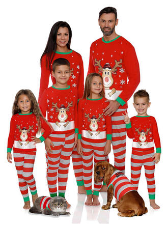 Hert Streep Voor Gezinnen Kerst Pyjamas