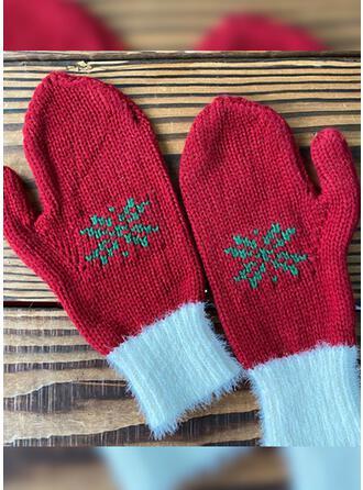 Bloemen/Kerstmis- mode/Warme/Kerstmis handschoenen