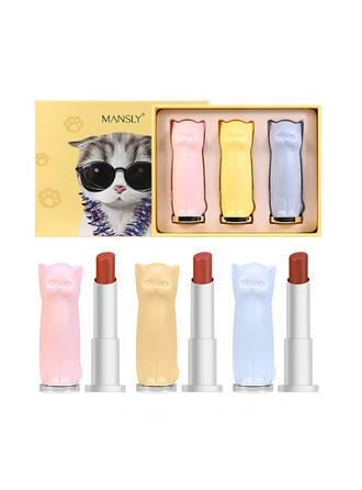 3 kleuren Mat Flikkering Lippenstiften Lip Sets met Doos