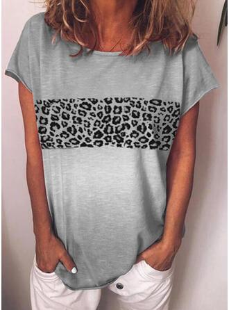 luipaard Ronde Hals Korte Mouwen T-shirts