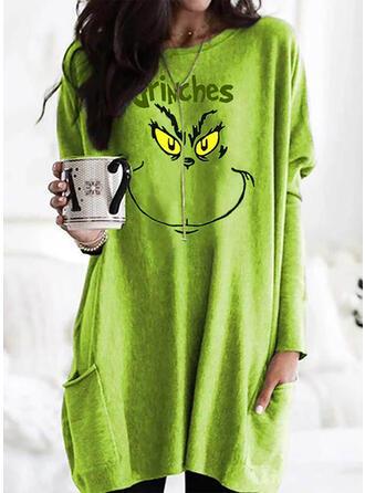 Figuur Ronde nek Lange Mouwen Kerst Sweatshirt
