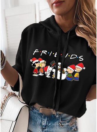 Print Figuur Lange Mouwen Kerst Sweatshirt