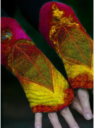 Bloemen/Hechten/Bladeren Kleurrijk/Laat vormige/vrouwen handschoenen