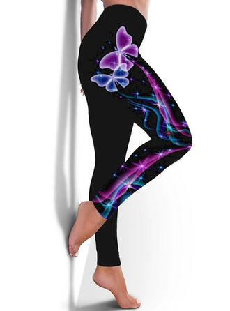 Print Grote maat Casual sportieve Yoga Leggings