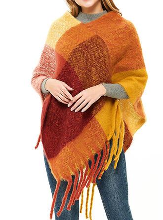 Color Block/Tassel te groot/mode Sjaal