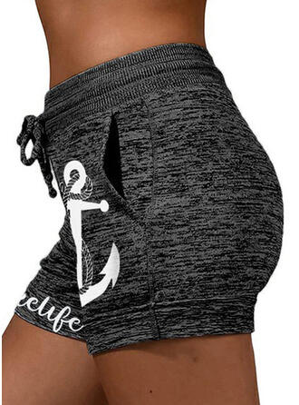 Print Casual sportieve Shorts