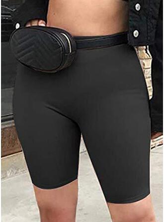 Solide Sexy Yoga Rekbaar Shorts Leggings