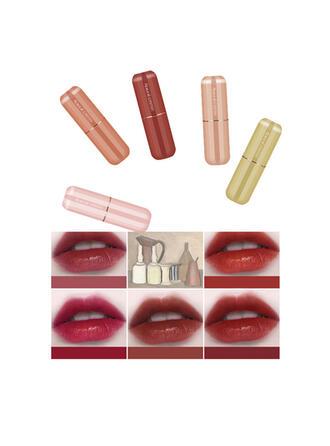 5 kleuren Mat Klassiek Fluweel Lippenstiften Lip Sets met Doos