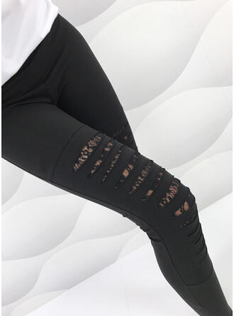 Solide Gescheurd Sexy Broodmager Leggings