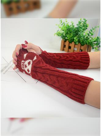 Effen kleur/grafische prints/Halloween aantrekkelijk/Schedel print handschoenen