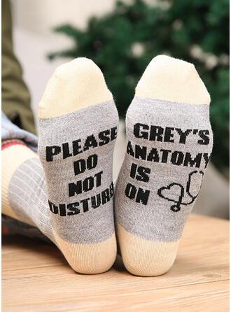Letter/Hechten/Print Ademend/Crew sokken/Unisex Sokken