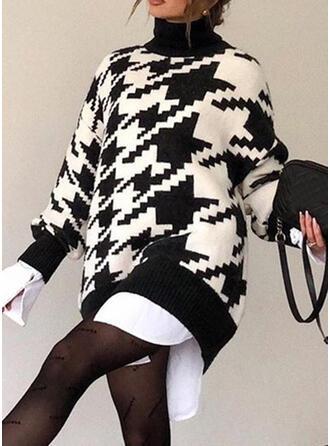 Print Coltrui Casual Lang Sweaterjurk