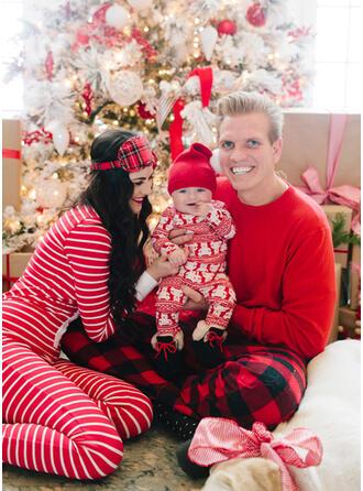 Bear Plaid Streep Voor Gezinnen Kerst Pyjamas