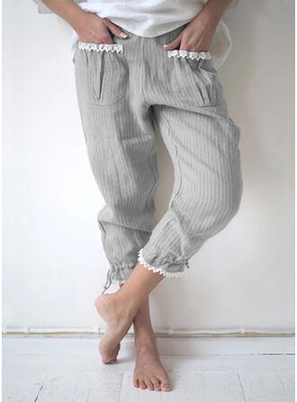 Zakken Shirred Grote maat Casual Gewoon Lounge broek