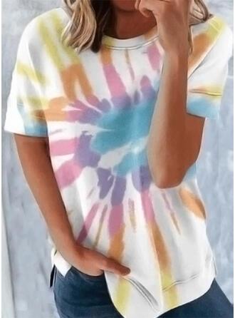 Tie Dye Ronde Hals Korte Mouwen T-shirts