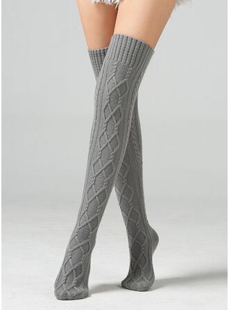 Effen kleur Ademend/Comfortabel/Knie hoge sokken Sokken/kousen