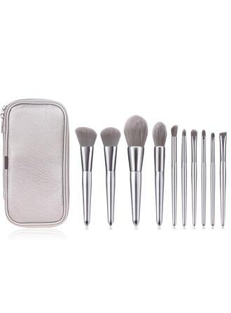 10 STUKS Shell Design-handgreep Sets voor make-upborstels