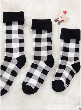 Plaid Ademend/Comfortabel/Kerstmis/Crew sokken/Voor Gezinnen Sokken