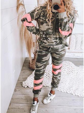 Lapwerk Camouflage Trekkoord Casual sportieve Pakken