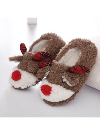 Vrouwen Suede Flat Heel Flats Ronde neus met Van Toepassing Las kleur schoenen
