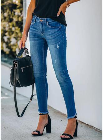 Grote maat Tassel Lang Elegant Sexy Spijkerbroek
